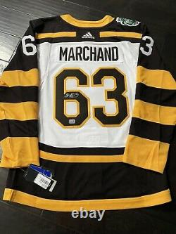 BRAD MARCHAND Boston Bruins SIGNED Winter Classic 2019 Pro JERSEY with YSMS COA