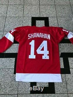 BRENDAN SHANAHAN Signed Custom Detroit RED WINGS JERSEY SYA Hologram