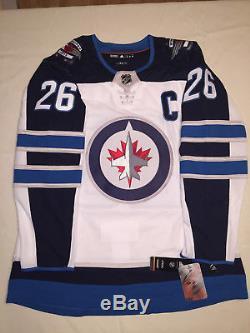 Blake Wheeler Winnipeg Jets Autographed Adidas Authentic NHL Hockey Jersey-White