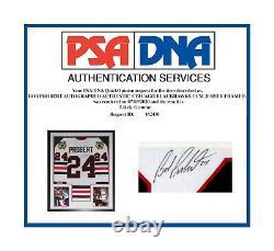 Bob Probert Autographed Authentic Chicago Blackhawks CCM Jersey Framed Psa Dna