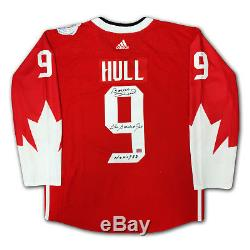 Bobby Hull Autographed Red Team Canada Jersey