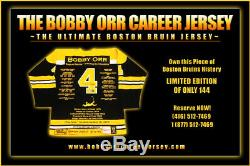Bobby Orr Career Jersey Autographed LTD ED 144 Boston Bruins