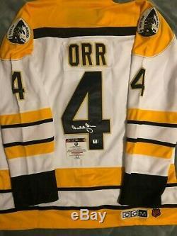Bobby Orr Signed Bruins White Jersey (COA)