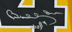 Bobby Orr Signed Custom Black and Yellow Flying Goal Hockey Jersey BAS