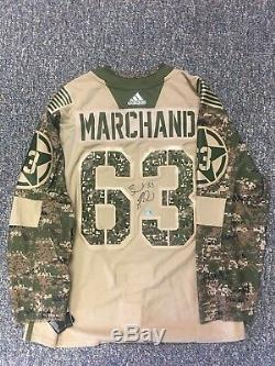 Brad Marchand Boston Bruins Signed Autographed 2018 Military Appreciation Jersey