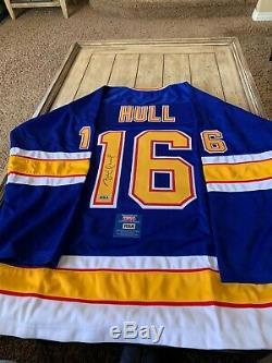 Brett Hull Autographed/Signed Jersey COA St Louis Blues