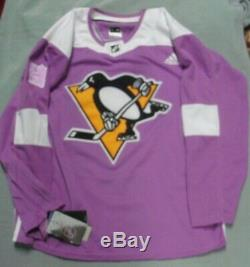 Brian Dumoulin, Pgh Penguins, Signed Purple adidas JERSEY, Hockey / Cancer, TAGS