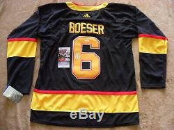 Brock Boeser Autographed Signed 50th Anniversary Vancouver Canuck Jersey JSA COA