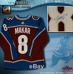 CALE MAKAR Signed Colorado Avalanche Burgundy Adidas PRO Jersey