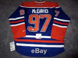 CONNOR MCDAVID Edmonton Oilers SIGNED Autographed JERSEY with PSA COA New Medium