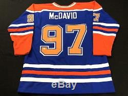 CONNOR MCDAVID Hand Signed Autographed EDMONTON OILERS Custom XL Jersey WithCOA