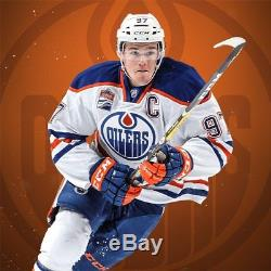 CONNOR McDAVID. 2015 RPA UPPER DECK THE CUP SIGNATURE PATCHES. 22/99. MINT.