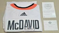 CONNOR McDAVID OILERS Authentic Autographed ADIDAS Jersey UD ALL-STAR RARE 2018