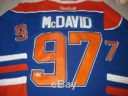 CONNOR McDAVID Signed EDMONTON OILERS Jersey Autograph NHL AUTHENTIC Beckett COA