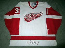 CURTIS JOSEPH Detroit Red Wings SIGNED Autographed JERSEY withBeckett BAS COA XL