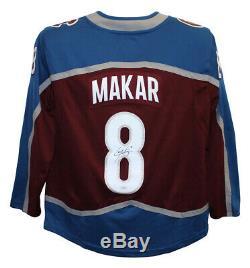 Cale Makar Autographed/Signed Colorado Avalanche Red Fanatics L Jersey JSA 25197