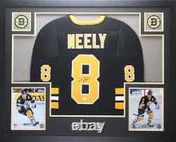 Cam Neely Autographed & Framed Black Boston Bruins Jersey JSA COA D2-L