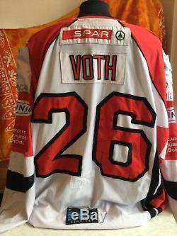 Cardiff Devils Gameworn Ice Hockey Jersey Brad Voth