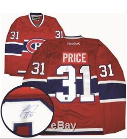 Carey Price Signed Jersey Replica Red Canadiens NHL Frameworth COA