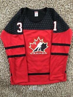 Carter Hart Signed Team Canada Jersey JSA COA #31 Philadelphia Flyers NHL Star