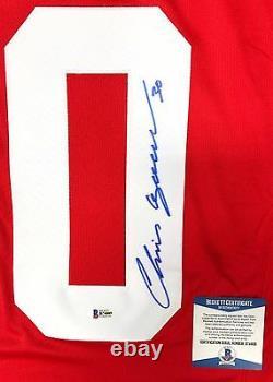 Chris Osgood Signed Detroit Red Wings Reebok Premier Jersey Beckett Coa Bas