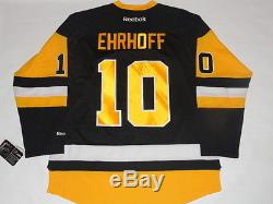 Christian Ehrhoff Signed Pittsburgh Penguins New 3rd Alternate Jersey Licensed