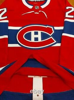 Cole CAUFIELD Signed Montreal Canadiens Pro Adidas Red Jersey NO RESERVE