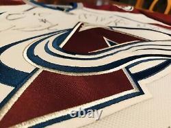 Colorado Avalanche Team Signed/ Autographed White Jersey Mackinnon Landeskog