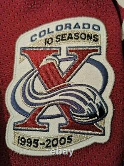 Colorado Avalanche Third RBK 1.0 Pierre Turgeon Customized 10th Ann sz 56
