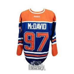 Connor McDavid Autographed Blue Edmonton Oilers Authentic Reebok Jersey UDA