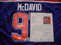 Connor McDavid Autographed Signed Edmonton Oilers Jersey JSA LOA Certified COA