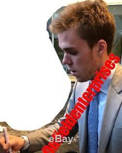 Connor McDavid Edmonton Oilers Autographed Signed Jersey size L JSA LOA