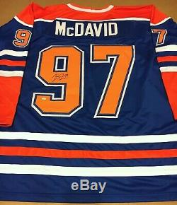 Connor McDavid Edmonton Oilers Signed Jersey COA