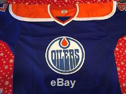 Connor McDavid Oilers Signed Blue Jersey Size XL With COA