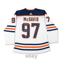 Connor McDavid Signed Autographed Jersey Inscribed #1 Pick 2015 Oilers /97 UDA