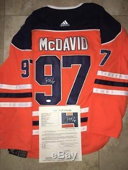Connor McDavid Signed Edmonton Oilers Jersey Superstar MVP JSA Letter
