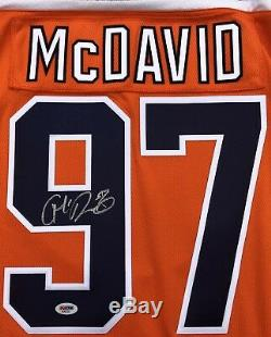 Connor Mcdavid #97 Edmonton Oilers Signed Hockey Fanatics Jersey Psa/dna