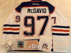 Connor Mcdavid Autographed Jersey with COA, Edmonton Oilers