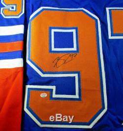 Connor Mcdavid / Edmonton Oilers / Autographed Oilers Custom Hockey Jersey / Coa