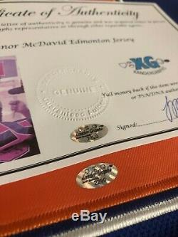 Connor Mcdavid Edmonton Oilers Signed Autographed Blue Jersey 40 Patch-bas Coa