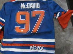 Connor Mcdavid Edmonton Oilers Signed Replica Jersey JSA