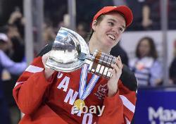 Connor Mcdavid Signed 2015 World Junior Canada Nike Jersey Beckett Coa C47200