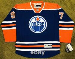Connor Mcdavid Signed Edmonton Oilers Rbk Premier Jersey NHL Auto +beckett Coa