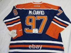 Connor Mcdavid Signed Edmonton Oilers Reebok Jersey Beckett Bas Coa G79562