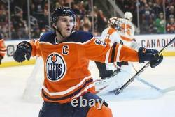 Connor Mcdavid Signed Edmonton Oilers Reebok Jersey Beckett Coa T96248 XXL