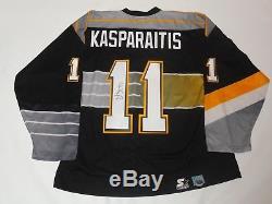 Darius Kasparaitis Signed Vintage Starter Pittsburgh Penguins #11 Jersey Jsa Coa