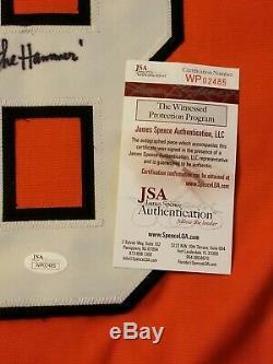 Dave Schultz Philadelphia Flyers Signed Custom Jersey Inscribed JSA Witnessed