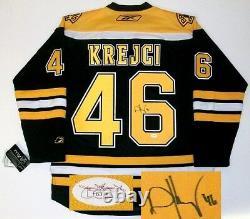 David Krejci Signed Boston Bruins Rbk Home Jersey Jsa