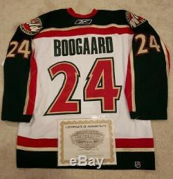 Derek Boogaard Signed Authentic Minnesota Wild Rookie Jersey COA