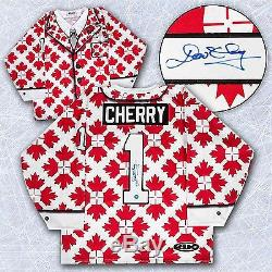 Don Cherry Autographed Canada Maple Leaf Custom Suit Hockey Jersey
